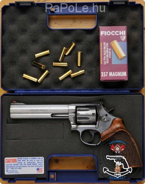 Gyártó: Smith&Wesson, Kaliber: 357 M/38 Sp, Fegyver típusa: REV 6 M 686-6