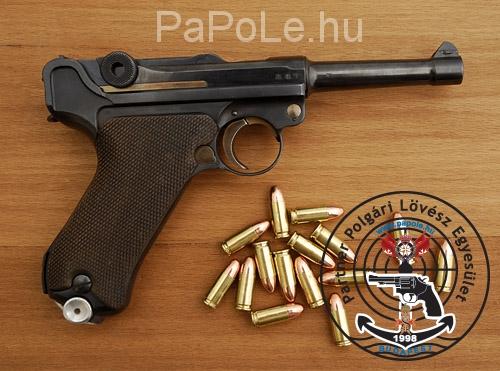 Gyártó: Luger, Kaliber: 9mm Luger, Fegyver típusa: P 08