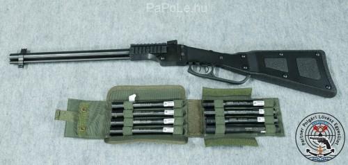 Bolti fegyver: Gyártó: Chiappa Kaliber: 12 GA / 22 LR + 8db adapter (380, 9mm Luger, 357 M/38 Sp, .40 SW, .44M, .45ACP, 410/45LC, 20GA) Fegyver típusa: X-Caliber, Ár: Hamarosan
