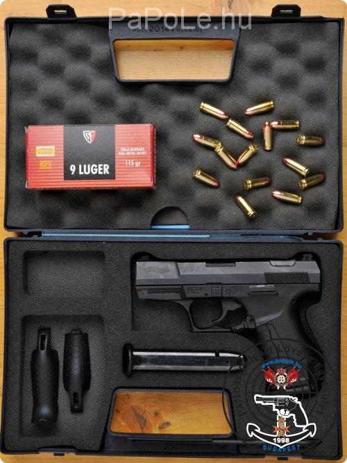Gyártó: Walther, Kaliber: 9mm Luger, Fegyver típusa: P99